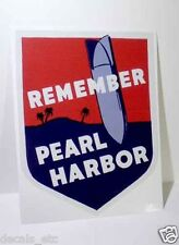 Remember Pearl Harbor Hawaii Vintage Style WWII Travel Decal Vinyl Sticker
