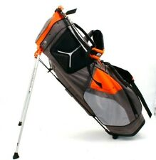 New W/ Logo Sun Mountain 3.5 LS Grey/Orange Stand Bag 5-Way Top Grey Rain Hood
