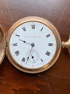 Vintage Dueber Hampden Pocket Watch - 17j - MVT# 2021971