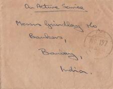 BURMA :1946 OAS stampless envelope to Bombay+ FPO No 197 double ring