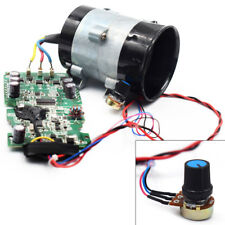 12V Auto Electric Turbine Power Turbo Charger Boost Air Intake Fan &Control Nice
