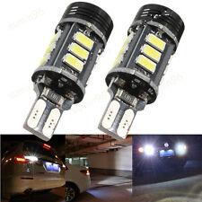 2*No Error Canbus T15 W16W 5630 COB 15-LED Xenon White Backup Reverse Light Bulb