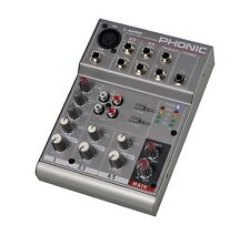 Phonic AM 55 1-Mic/Line 2-Stereo Compact Mixer