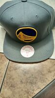 Golden State Warriors Mitchell & Ness NBA Snapback Hat Cap Solid Gray NEW***