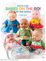 """Babies On The Go 10"""" Doll Clothes Lorine Mason Sewing Instruction Book NEW 2012"""