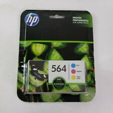 HP 564 Color Combo Ink Cartridge Cyan Magenta Yellow New Sealed Genuine 3 pack