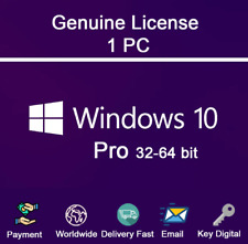 🔥 Windows 10 Pro 32/64 bits. Product Key / 10s Delivery - 100% Genuine 🔑