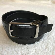 COACH Men's Modern Harness Reversible Belt - Black Signature Leather