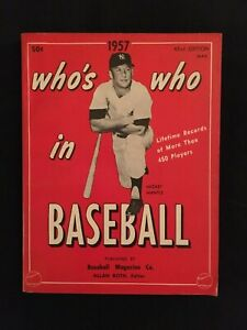 1957 MICKEY MANTLE COVER NY YANKEES WHO'S WHO IN BASEBALL DON NEWCOMBE DODGERS