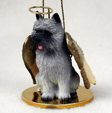 Cairn Terrier Angel Dog Christmas Ornament Holiday Figurine Statue Gray