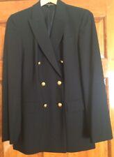 VINTAGE Women's BROOKS BROTHERS Brookease Black Wool Blend Pant Suit Size 6