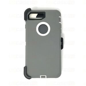 For iPhone 7 & 8 Plus Case with Screen Protector Series Fits Defender Belt Clip