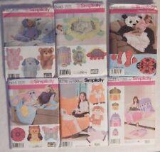 Simplicity 4993, 2493, 3955, 2935, 8278, 8033 Rag Quilt Animal Patterns+ NEW