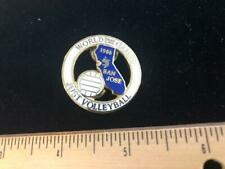 World Games Police & Fire Just Volleyball Pin - 1985 - Butterfly Clasp - Lapel