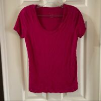 A new day Women's Pink Scoop Neck Short Sleeve T-Shirt size Small