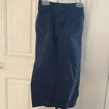 Vguc Lands End Boys Navy Blue Uniform Pants with Adjustable Waist - size 4S