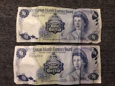 1971 Cayman Islands Currency Board One Dollar Note!! Lot of 2