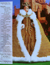 Crochet Pattern Only ~ Barbie Queen Elizabeth Dress, Cape, Shoes, Slip & Crown