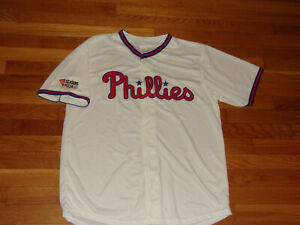 NEW PHILADELPHIA PHILLIES BRYCE HARPER GIVEAWAY BASEBALL JERSEY MENS LARGE