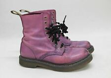 DR. MARTENS Ladies Purple Distressed Leather Lace Up Ankle Boots UK5 EU38
