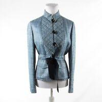 Blue black space dyed tweed ECCOCI long sleeve jacket 2