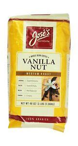 Jose's Whole Bean Coffee Vanilla Nut 3 Lbs 3 Pound (Pack of 1)