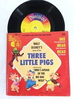 1965 Walt Disney's Story Of The Three Little Pigs, Book And Record Vinyl