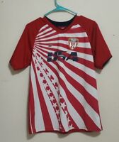 USA Soccer Jersey Shirt Children's Youth  XL 18/20 Red White #3
