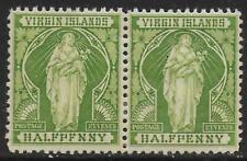 British Virg Islands stamps 1899 SG 43a(ERROR)+43 PAIR MLH VF