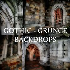 GOTHIC GRUNGE URBAN DIGITAL PHOTO BACKGROUNDS Backdrops Green Screen Chroma Key