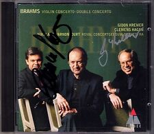 Gidon KREMER & Clemens HAGEN Signed BRAHMS Violin Double Concerto HARNONCOURT CD