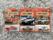 Matchbox - Damaged Card Bundle - Ford Capri MGB Coupe Volkswagen Golf