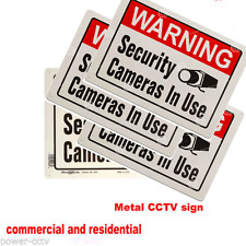 Warning Sign in use Video Surveillance security METAL CCTV camera 4 signs
