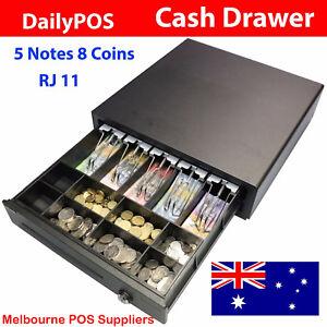DailyPOS Australian Electronic Cash Drawer Box RJ11 12v/24v 5 Notes 8 Coins POS