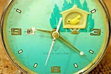 Vintage Bird Singing Alarm Clock Bird Mechanical Alarm Clock Bird Is Moving #131