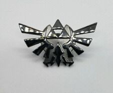 tone Metal Lapel Pin New Licensed Nintendo The Legend of Zelda Silver/black