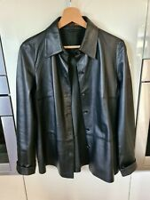 Bally Leather jacket/shirt  size : M/L