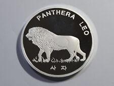 Korea 2016, Panthera Leo 10 Won, 40mm, 1oz Silver Proof