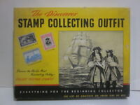 Vintage Discoverer Stamp Album Book in Orig Box, All Countries of World 1953