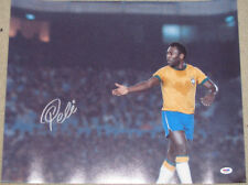 PELE Hand Signed BRAZIL 16'x20' Photo + PSA DNA COA  *BUY 100% GENUINE PELE*
