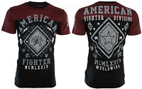 AMERICAN FIGHTER Mens T-Shirt KENDALL Athletic BLACK RED Biker Gym MMA $40