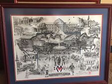 Southern Methodist University Heritage Print