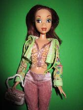 B275-my scene barbie rossastre CHELSEA MATTEL ORIGINALE VESTITI + SCARPE + BORSA