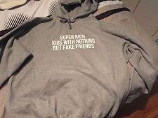 "Frank Ocean ""Super Rich Kids"" Grey Graphic Hoodie (Free Shipping) S,M,L,XL"