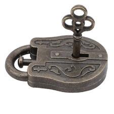 Vintage Metal Cast God Lock Key Zinc Alloy Puzzle Toy IQ&EQ Mind Brain Teaser G