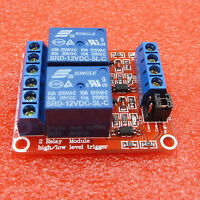 2-Channel 12V Relay Module Optocoupler High and Low Level Trigger for Arduino