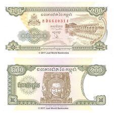 Cambogia 200 riels 1998 UNC banconote P-42