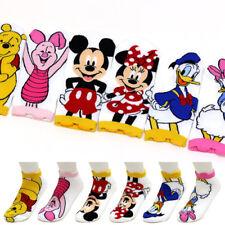 6 Pairs Disney Pooh Mickey Friends Character Socks Womens Big Kids Cartoon Socks
