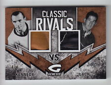 2016 Leaf Genesis Ted Kennedy & Elmer Lach Classic Rivals Dual Glove (4/4)
