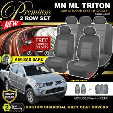 Premium CHARCOAL Seat Covers Mitsubishi Triton MN ML DUAL CAB 6/2006-2015 GLX-R